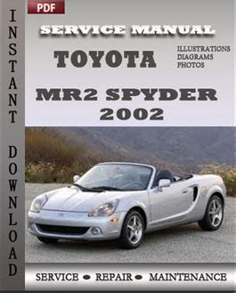 book repair manual 2000 toyota mr2 on board diagnostic system toyota mr2 spyder 2002 service manual pdf download servicerepairmanualdownload com
