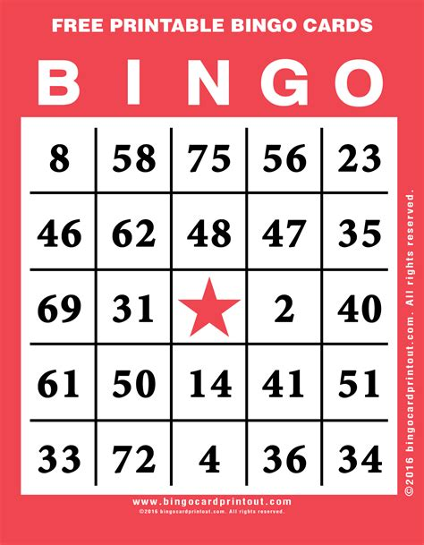 free printable bingo cards template printable free bingo cards