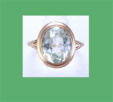 light green stone ring light green spinal stone 14k gold ring