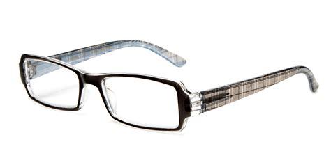 translucent color reading glasses plaid design print