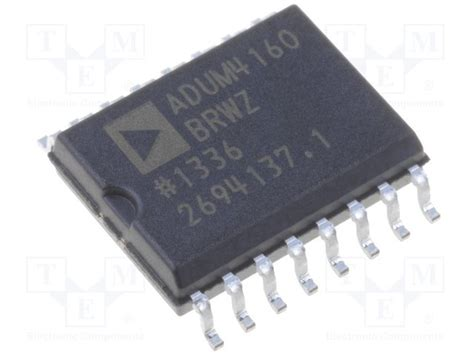 analog digital interface integrated circuits adum4160brwz analog devices digital isolator tme electronic components