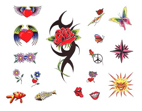 coloured heart tattoo designs colored flowers and tattoos designs