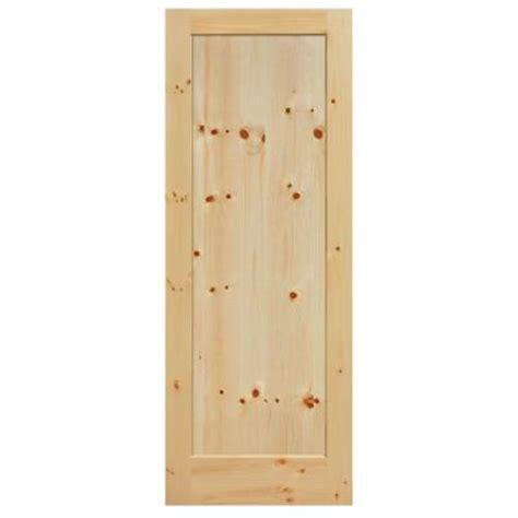 interior wood doors home depot masonite 40 in x 84 in primed 1 lite solid wood interior barn door slab 82260 the home depot