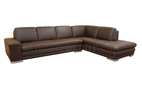 Brown Leather Sectional by Brown Leather Modern Sectional Sofa Callidora
