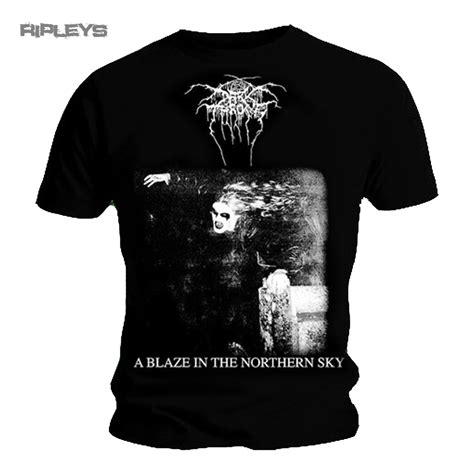 Throne S Arctic Thunder T Shirt Black Kaos Pria Size M official t shirt darkthrone black metal blaze northern sky all sizes