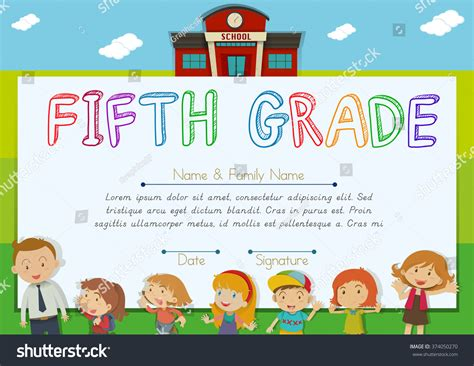 5th grade graduation certificate template 28 images