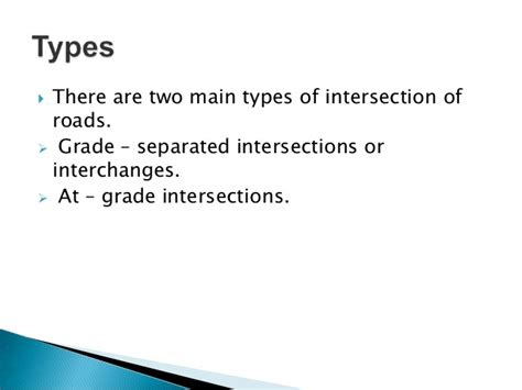 pattern types ppt intersection designs ppt