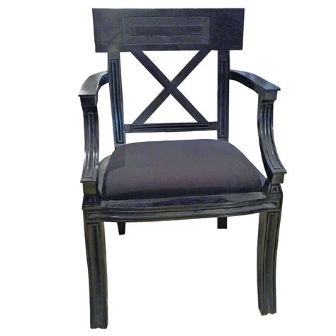 black armchair sale neoclassic empire style black armchair with cushion for