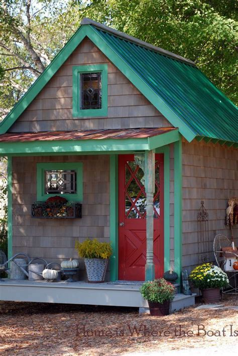 outdoor shed paint colors unique  whimsical garden shed