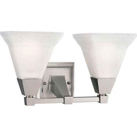 2 Light Vanity Fixture Progress Lighting Glenmont Collection 2 Light Brushed Nickel Vanity Fixture P3136 09 The Home