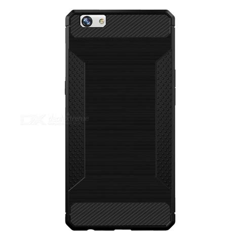 Oppo A39 Bumper Carbon Fiber Silikon Back Tpu Soft Cover Casing wire drawing carbon fiber tpu protective for oppo r9s black free shipping dealextreme