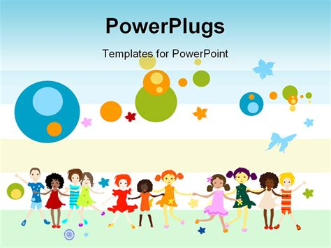 free powerpoint templates children powerpoint template global diversity graphics and