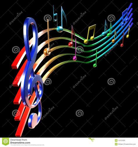imagenes musicales 3d notas musicais de colorfull ilustra 231 227 o stock imagem