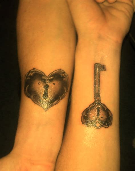 heart couple tattoos key tattoos designs ideas and meaning tattoos for you