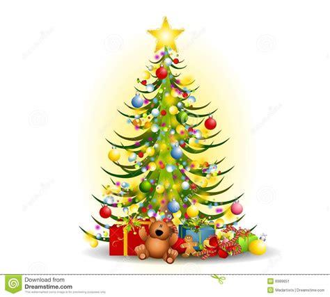 weihnachtsbaum geschenk klipp kunst stock abbildung bild