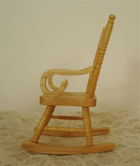 mini rocker chair miniature rocking chair dollhouse wood furniture rocker
