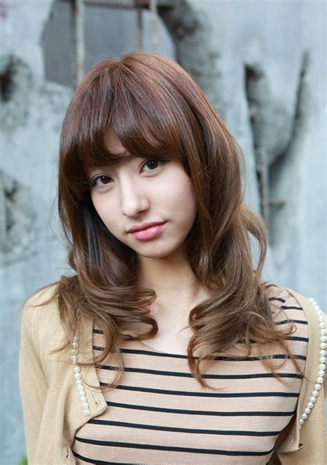 asian hairstyles medium short hairstyle 2013 asian girls shoulder length wavy hairstyle with full bangs