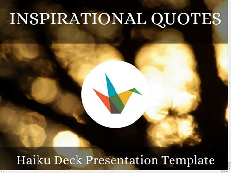 theme quote exles inspirational quotes presentation template のコピー by c at