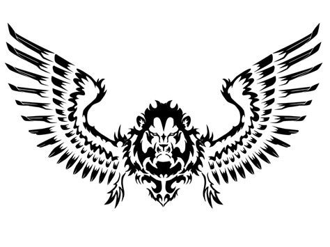 black and white lion of judah tattoo design real photo