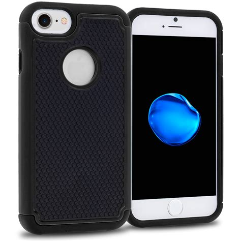 Casing Cover Likgus Tough Shield Iphone 7 1 black black hybrid rugged armor protector cover for apple iphone 7 casedistrict