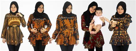 Pakaian Wanita Baju Setelan Wanita Setelan Peplum Ribbon Mirabella M batik pria batik wanita batik sarimbit
