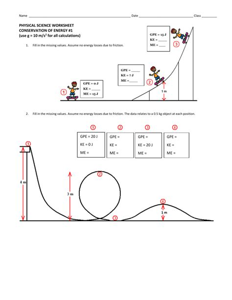 Of Conservation Of Energy Worksheet Answers by Uncategorized Mechanical Energy Worksheet