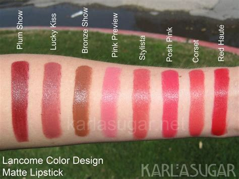 lancome lipstick colors lancome matte lipstick swatches the