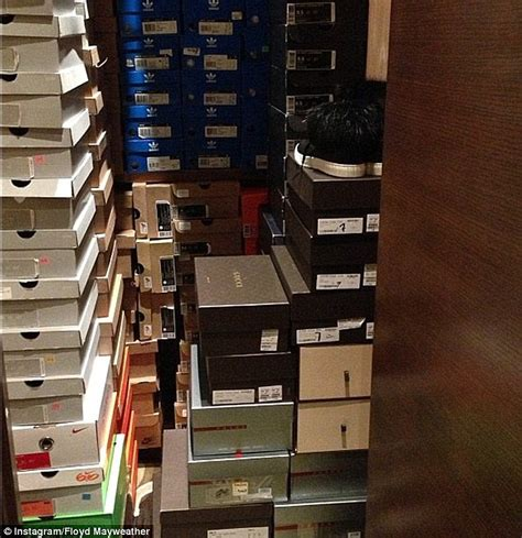 mayweather shoe collection of floyd mayweather by his right