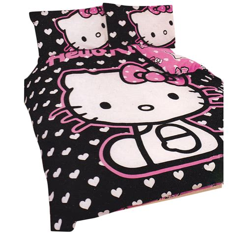 hello kitty bedding set girls hello kitty hearts double duvet quilt cover bedding set