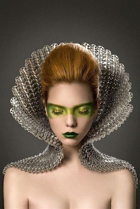 beauty garde avant garde future girl futuristic fashion hairstyle