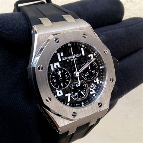 Audemars Piguet Black Rubber audemars piguet royal oak offshore chrono stainless black