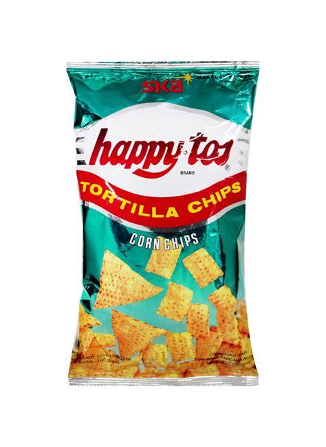 happytos snack tortila chips hijau pck  klikindomaret