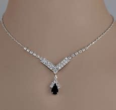 Diane Black Choker see our selection of black or grey rhinestone jewelry sets at great discount prices