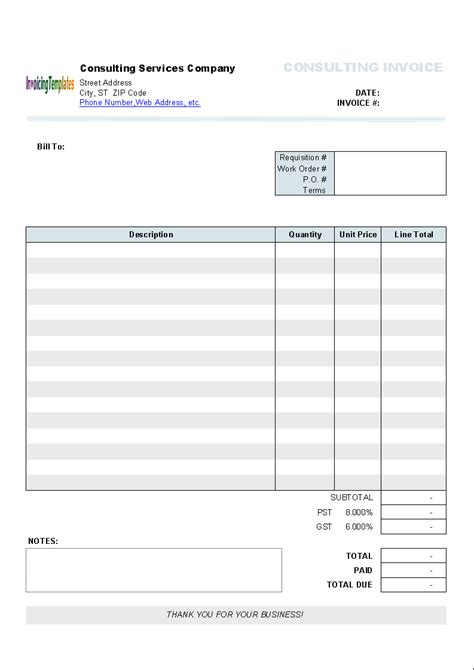 Word Invoice Template Mac Invoice Exle Word Templates For Mac