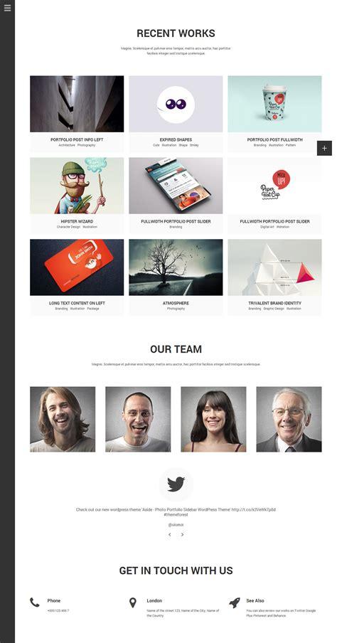html themes portfolio aside photo portfolio sidebar html theme by bwsm