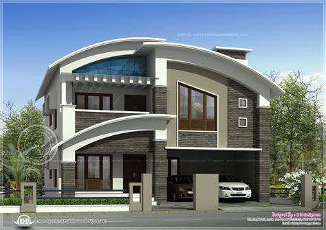 Modern Villa Plans by 2568 Square Feet Modern Villa Exterior Home Kerala Plans