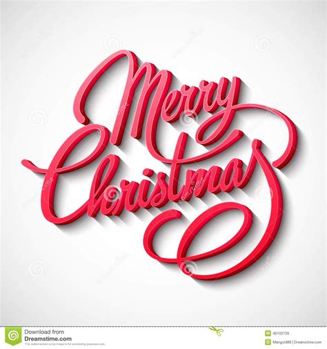 merry christmas vector lettering stock vector illustration  christmas font