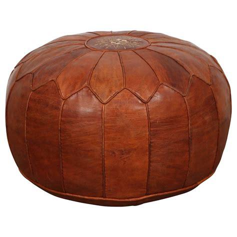 moroccan leather pouf ottoman leather moroccan pouf