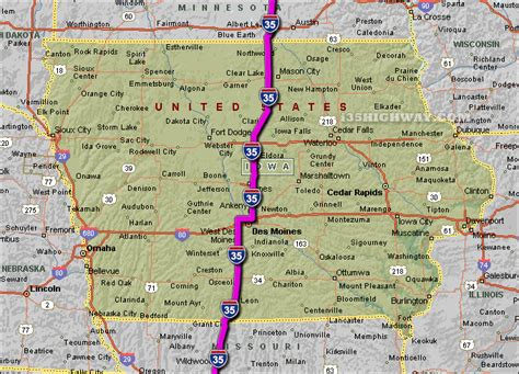 iowa road conditions color map driving map of iowa and travel information free