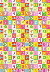 letters and numbers scrapbook paper
