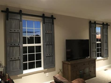 Interior Window Barn Shutters Sliding Shutters Barn Door