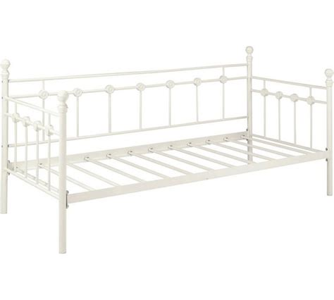 Argos Metal Bed Frame Buy Collection Abigail Single Metal Day Bed Frame White At Argos Co Uk Your Shop For