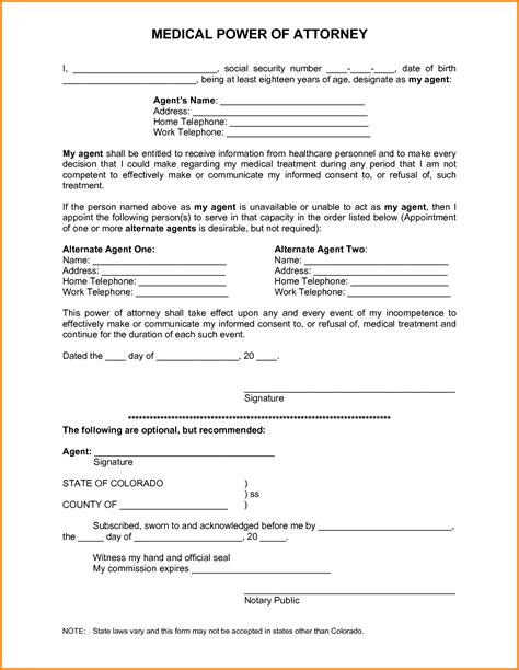 printable free power of attorney forms free printable power of attorney form 2223214 png letter