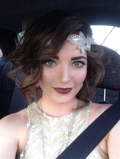 My modern take on 20s makeup for my work Christmas party ... Modern Flapper Hair
