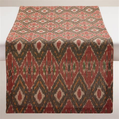 Table Runner by Black And Woven Ikat Table Runner World Market