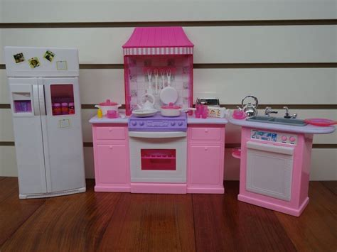barbie kitchen furniture barbie size dollhouse furniture kitchen set ebay