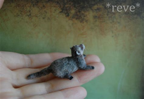 Handmade Miniatures - handmade miniature ferret photo no 2 by reveminiatures