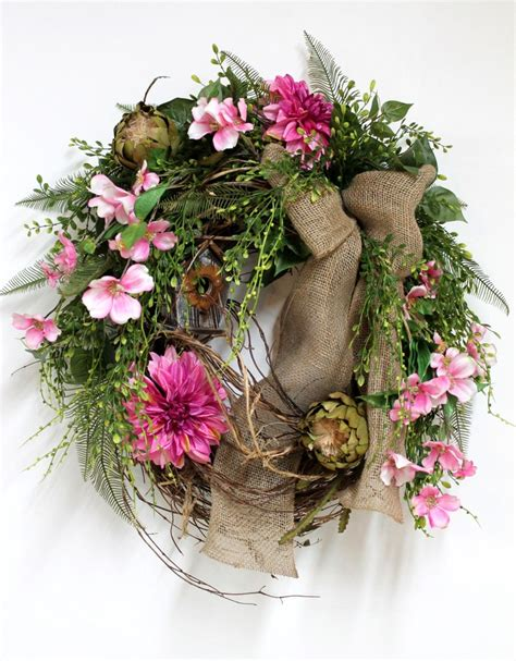 spring door wreath front door wreath spring wreath summer wreaths apple