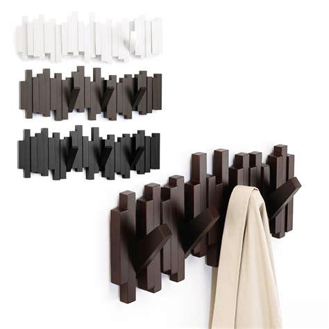 Umbra Sticks Wall Mount Rack With Five Hooks by Umbra Sticks Sculptural 5 Hook Wall Mounted Coat Rack