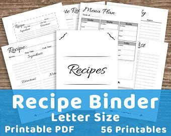 printable recipe organizer a4 recipe page template peach rose wreath design editable